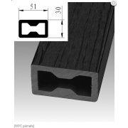WPC Teraszburkolat párnafa  30mm x 51mm (fekete)(5800mm) (3m/m2)