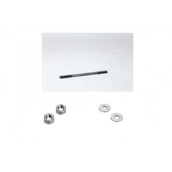 Fogópár összekötő csavar 12x250mm (anya, alátét)