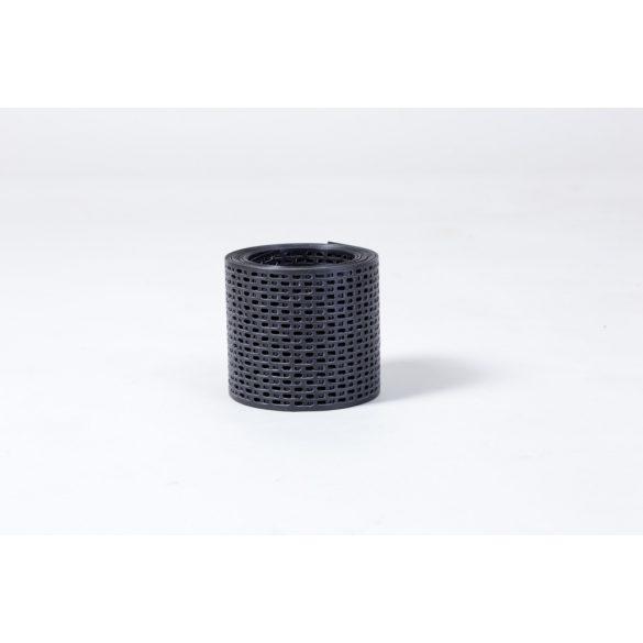 Fekete perforált szellőző szalag 10cm