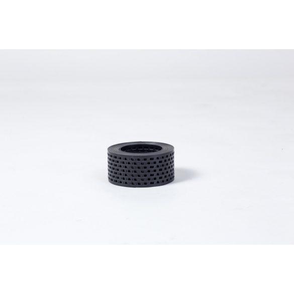 Fekete perforált szellőző szalag 5cm